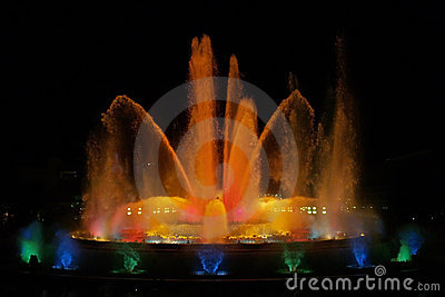 Montjuic (magic) fountain in Barcelona #7
