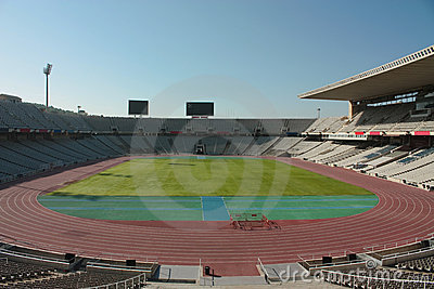 Montjuic Olympic stadium Editorial Photography