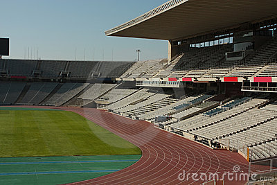 Montjuic Olympic stadium Editorial Photography