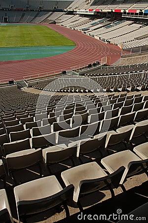 Montjuic Olympic stadium Editorial Stock Image