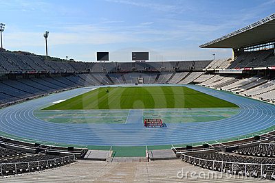 Montjuic Olympic stadium Editorial Stock Image