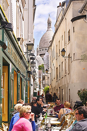 Montmartre Cafe, Paris Editorial Photo