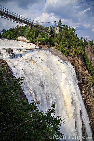 Montmorency Falls suspension bridge