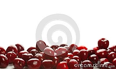 Montão de cerejas doces
