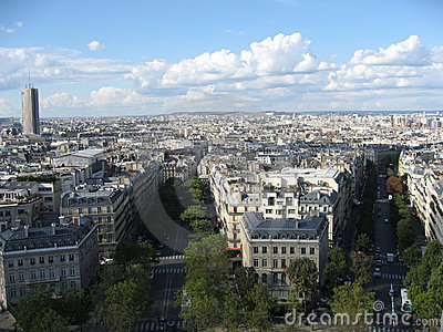 Montparnasse Tower and the city of Paris