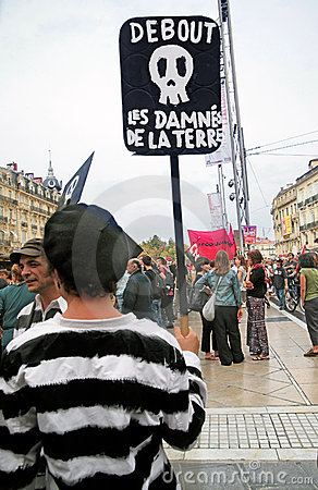 MONTPELLIER, SEPTEMBER 23 - PUBLIC DEMONSTRATION Editorial Image