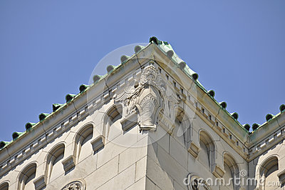 Montreal Building with Lion Stone Carving
