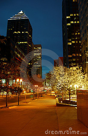 Free Montreal Business Area 5 Royalty Free Stock Image - 743366