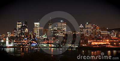 Montreal, Canada - skyline by night