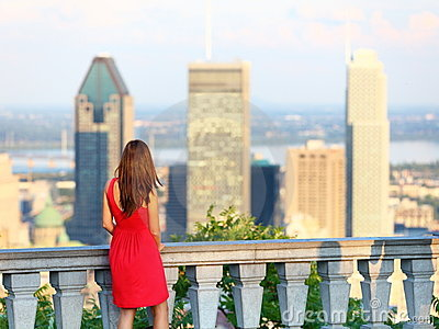 Montreal city woman
