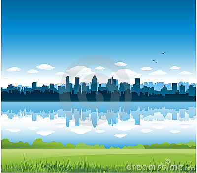 Montreal cityscape background