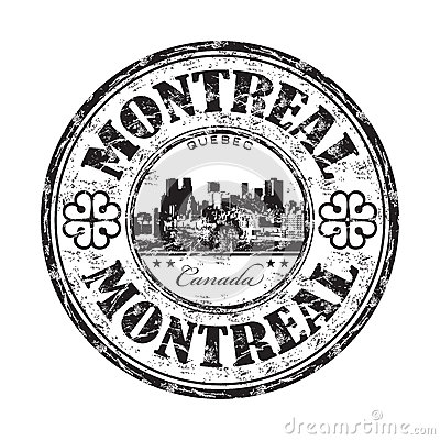 Montreal grunge rubber stamp