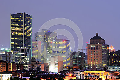Montreal at night Editorial Photo