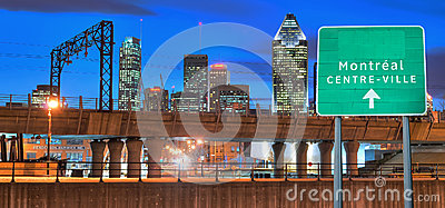 Montreal by night Editorial Stock Image