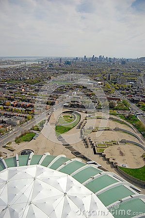 Montreal Olympic Park Editorial Stock Image