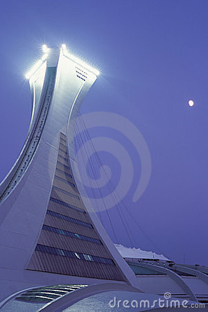 Montreal Olympic Stadium Editorial Stock Photo