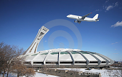 Montreal olympic stadium stock photo image 23378890 for Designer interieur montreal