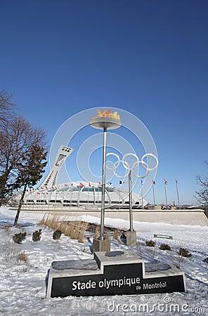 Montreal Olympic Stadium Editorial Stock Photo