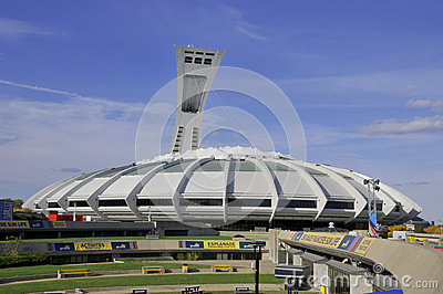 Montreal Olympic Stadium Editorial Photo