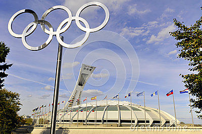 Montreal Olympic Stadium Editorial Photo