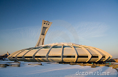 Montreal Olympic Stadium Editorial Image