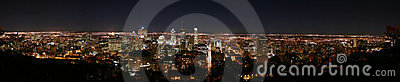 Montreal panorama by night