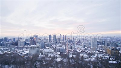 Montreal sunrise time lapse stock footage