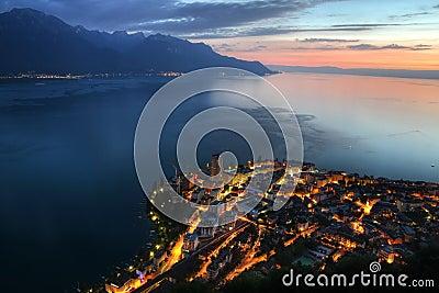 Montreux aerial, Switzerland