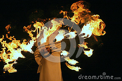 Montrez avec le feu Photo éditorial