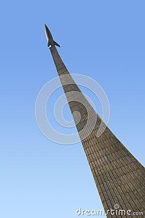 Monument of astronautics in Moscow.