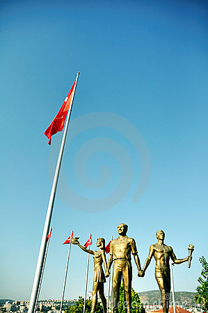 Monument of Ataturk and Youth, Kusadasi, Turkey