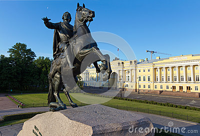Monument The Bronze Horseman in St. Petersburg
