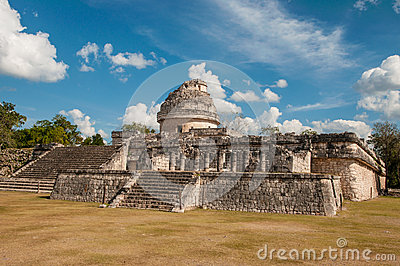 The monument Caracol at Chichen Itza on the Yucata