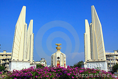 Monument de démocratie d â de borne limite de Bangkok
