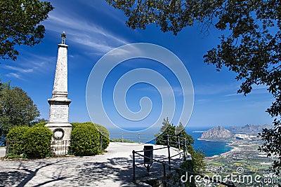 Monument in Erice, Sicily