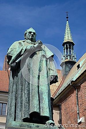 Monument of famous scientist and professor  Jozef Dietl,Krakow