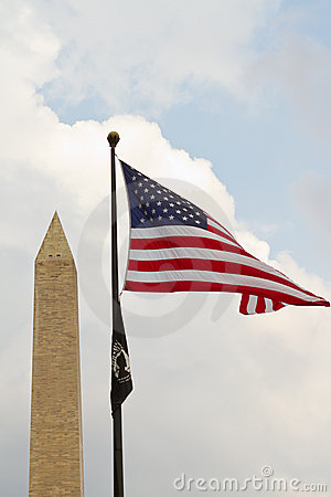 Monument and flag