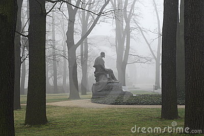 Monument in fog