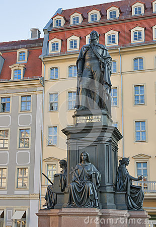 Monument of Friedrich August King of Saxony