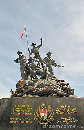 Monument in independence square in kuala lumpur