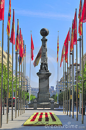 The monument of Justiciazgo, Zaragoza, Spain