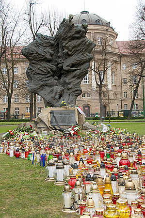 Monument of Katyn Victims in Poznan Editorial Stock Image