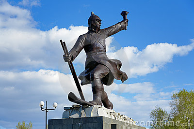 Monument in Komsomolsk-on-Amur, Russia