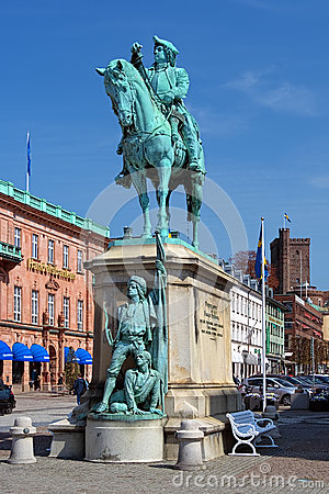 Monument of Magnus Stenbock in Helsingborg, Sweden Editorial Photo