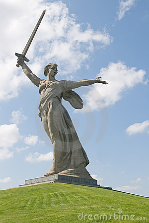 Monument Motherland calls in Volgograd, Russia