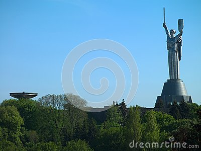 The monument Motherland in Kiev