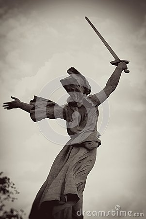 Monument Motherland. Mamayev Hill, Volgograd, Russia. Editorial Stock Image