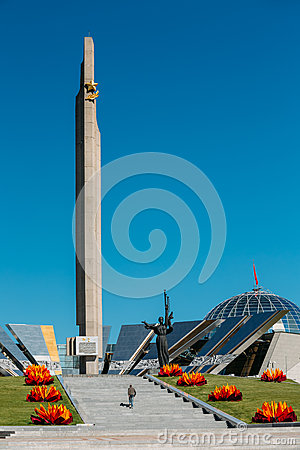 Free Monument Near Building Belorussian Museum Of The Stock Photography - 62563502