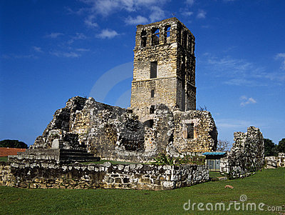 Monument Of An Old City In Republic Panama Royalty Free Stock Photos - Image: 11078828