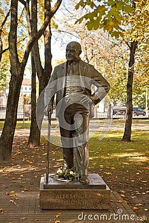 Monument of president Aleksandras Stulginskis Editorial Image